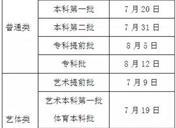 2019四川高考一本征集志愿填报时间