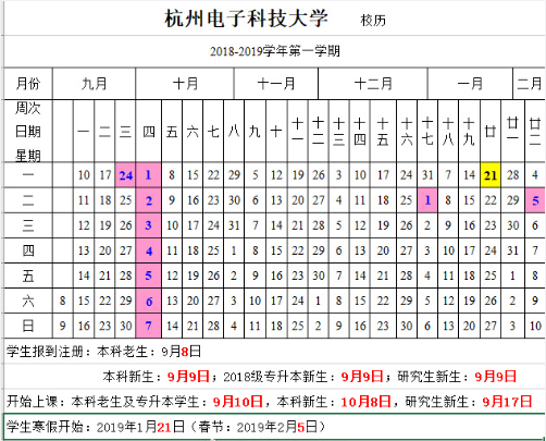 2018桂林电子科技大学新生开学时间