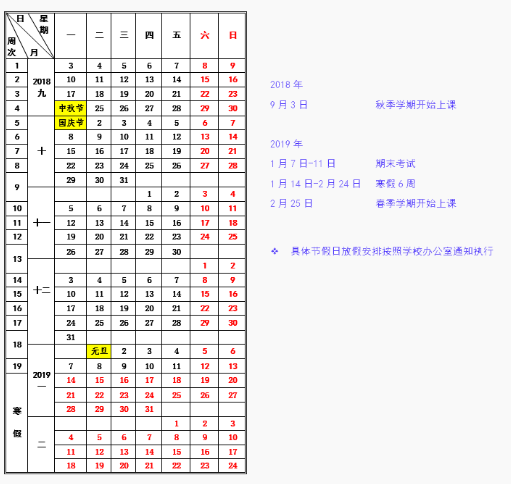 哈尔滨工业大学2019寒假放假时间