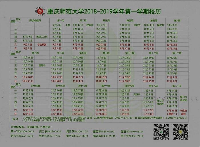 2019重庆各大学寒假放假时间安排