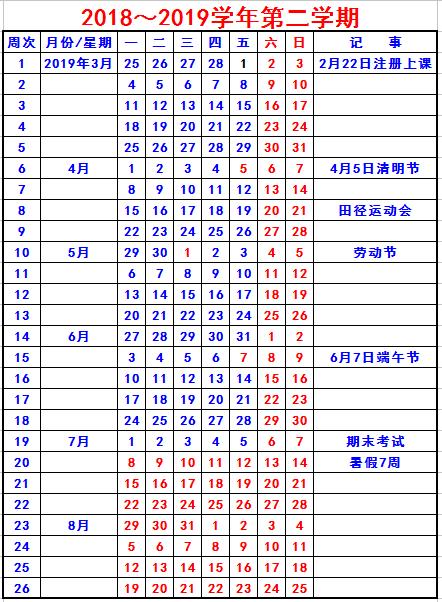 安徽理工大學2019寒假放假時間安排