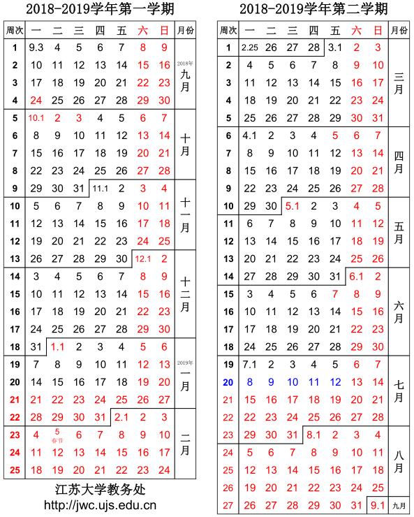 2019年江苏大学寒假放假时间安排