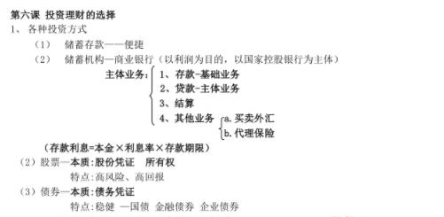 高中政治经济生活框架图