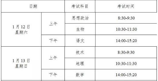 2019浙江学考选考时间安排