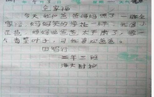 小学生能把老师气吐血的爆笑作文