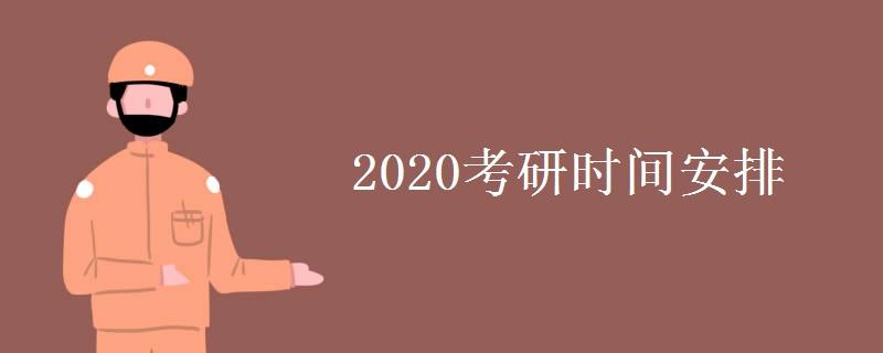2020考研时间安排