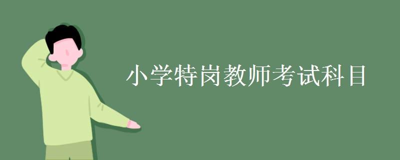 小学特岗教师考试科目