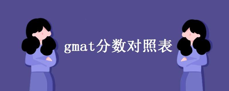 gmat分数对照表一览 gmat考多少分算高分?