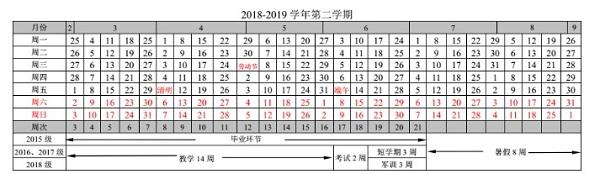 2019江南大学暑假时间安排