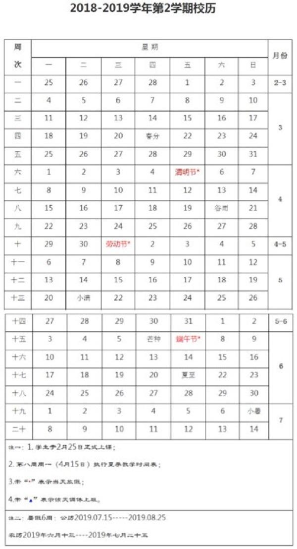 2019青岛农业大学暑假时间安排
