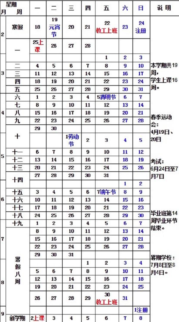 2019山東大學暑假時間安排