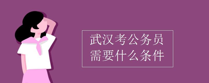 武漢考公務員需要什么條件
