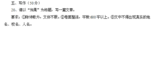 2019年四川攀枝花中考语文作文