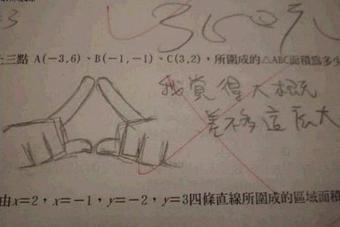搞笑学生答题试卷图片