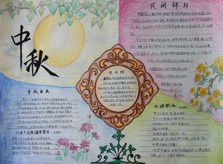 中秋节古诗手抄报图片大全