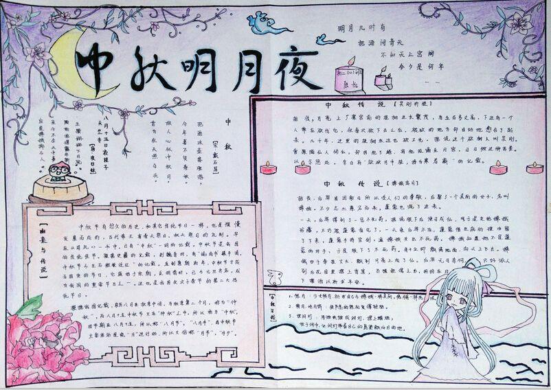 中秋节手抄报创意设计图片大全