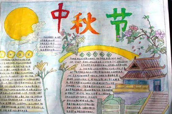 简洁漂亮的中秋节手抄报图片精选