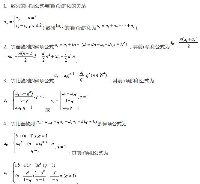 高中数学必背公式大全图片
