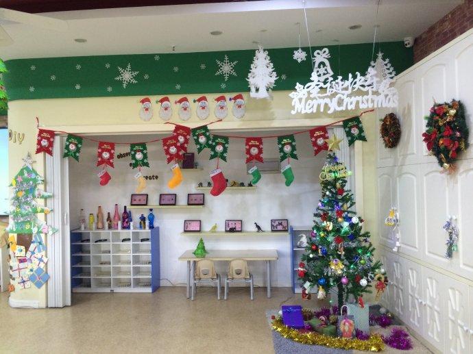 幼儿园圣诞节教室布置图片大全