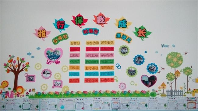 班级文化墙创意布置图片素材